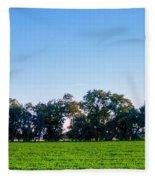 Pasture Tree Line Summer 15798 Fleece Blanket