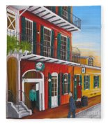 Pat O's Courtyard Entrance Fleece Blanket