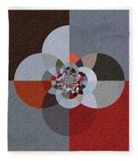 Patchwork Craze - Abstract - Triptych Fleece Blanket