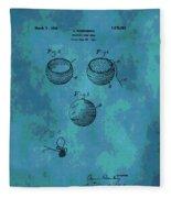 Patent Art Golf Ball Fleece Blanket