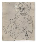 Patent For Crying Baby Doll Fleece Blanket
