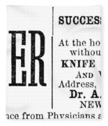 Patent Medicine, 1876 Fleece Blanket