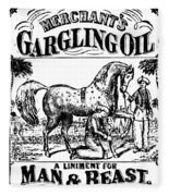 Patent Medicine, C1840 Fleece Blanket
