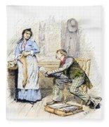 Patent Medicine Salesman Fleece Blanket