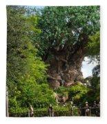 Path Leading To Tree Of Life Fleece Blanket