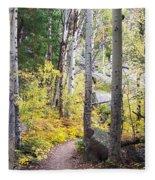 Path Of Peace Fleece Blanket