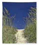 Path Through The Dunes Fleece Blanket