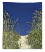 Path Through The Dunes Fleece Blanket