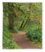 Path Through The Rainforest Fleece Blanket