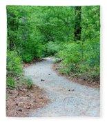 Path Through The Woods Fleece Blanket