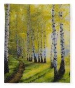 Path To Autumn Fleece Blanket