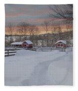 Path To The Barn Fleece Blanket