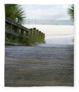 Path To The Empty Beach Fleece Blanket