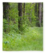 Path To The Green Forest Fleece Blanket