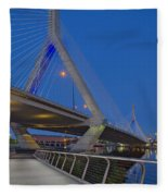 Path To The Leonard P. Zakim Bridge Fleece Blanket