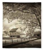 Path To The Old Barn Fleece Blanket