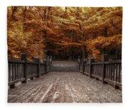 Path To The Wild Wood Fleece Blanket
