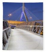 Path To The Zakim Bridge Fleece Blanket