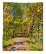 Pathway Along The Ohio And Erie Canal  Fleece Blanket