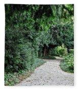 Pathway Of Monks Fleece Blanket