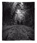 Pathway Through A Bamboo Forest Maui Hawaii Fleece Blanket