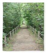 Pathway Through The Forest Fleece Blanket