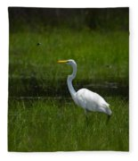 Patience - Egret Fleece Blanket