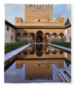 Patio De Los Arrayanes La Alhambra Fleece Blanket