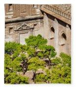 Patio De Los Naranjos Of Seville Cathedral Fleece Blanket