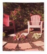 Patio Garden Fleece Blanket