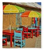 Patio Old Town Albuquerque New Mexico Dsc08203 Fleece Blanket
