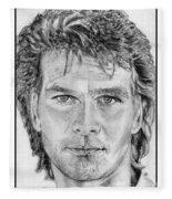 Patrick Swayze In 1989 Fleece Blanket