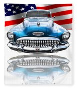 Patriotic Buick Riviera 1953 Fleece Blanket