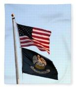 Patriotic Flags Fleece Blanket