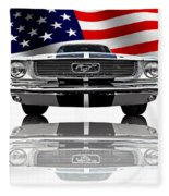 Patriotic Ford Mustang 1966 Fleece Blanket
