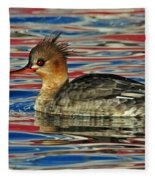 Patriotic Merganser Fleece Blanket