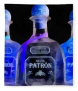 Patron Tequila Black Light Fleece Blanket