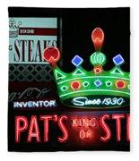 Pat's King Of Steaks Fleece Blanket