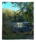 Patsiliga Creek Falls Fleece Blanket