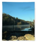 Patsiliga Creek Lake Fleece Blanket