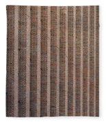 Patterend Brick Facade Fleece Blanket