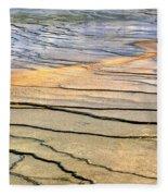 Patterns At Yellowstone #1 Fleece Blanket