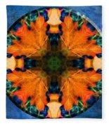 Patterns Of Autumn Fleece Blanket