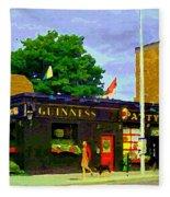 Patty's Pub Guinness On The Glebe Restaurant Bar Bank And Ossington Paintings Of Ottawa Art Cspandau Fleece Blanket