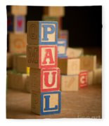 Paul - Alphabet Blocks Fleece Blanket