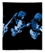 Paul Harwood Of Mahogany Rush Plays The Blues Fleece Blanket