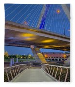 Paul Revere Park And The Zakim Bridge Fleece Blanket