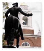 Paul Revere's Ride Fleece Blanket