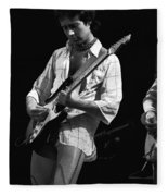Paul At Work On His Guitar In 1977 Fleece Blanket