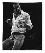 Paul Rocks Steady In Spokane In 1977 Fleece Blanket